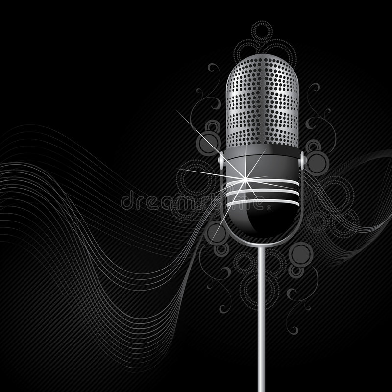 Abstract Mic stock illustration