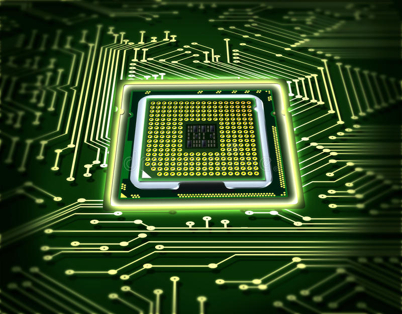 Abstract microchip vector illustration