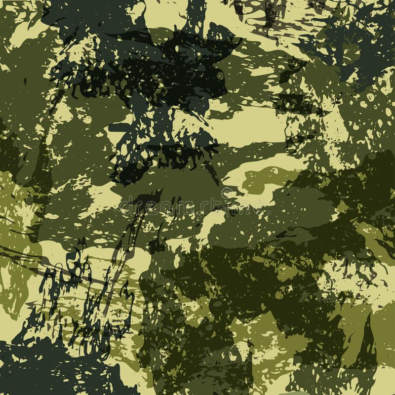 Abstract Military Camouflage Background Made of Splash. Camo Pattern for Army Clothing. Vector.  royalty free illustration