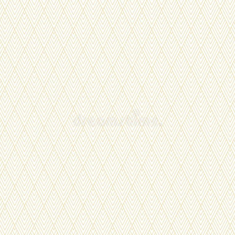 Abstract minimaal geometrisch naadloos patroon De textuur van het art decobehang Achtergrond van de in overzichts de vectorstof d vector illustratie