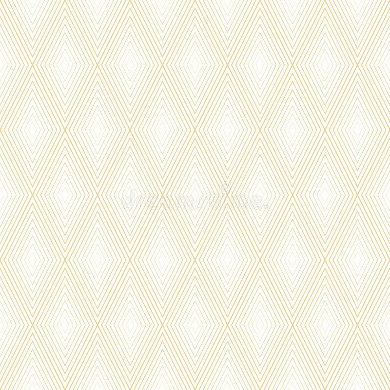 Abstract minimaal geometrisch naadloos patroon De textuur van het art decobehang Achtergrond van de in overzichts de vectorstof d stock illustratie