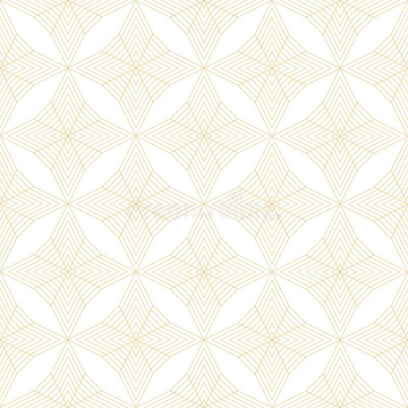 Abstract minimaal geometrisch naadloos patroon De textuur van het art decobehang Achtergrond van de in overzichts de vectorstof d royalty-vrije illustratie