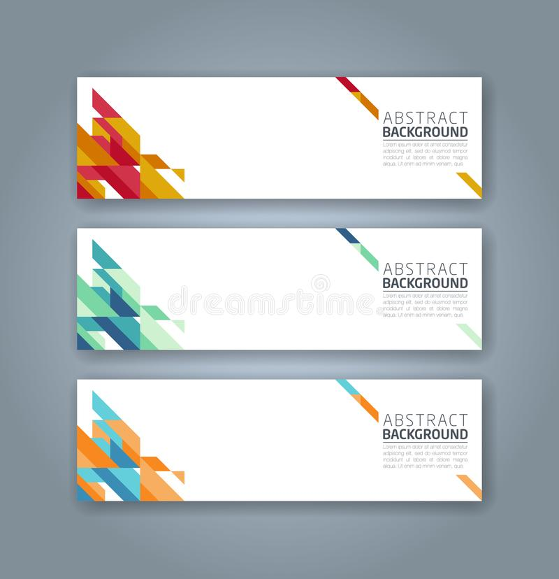 Abstract corporate business banner template stock illustration