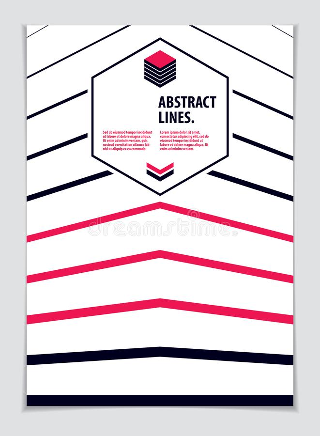 Abstract minimal geometric design background for business annual report, book cover, brochure, flyer or poster. Vector geometric stock illustration