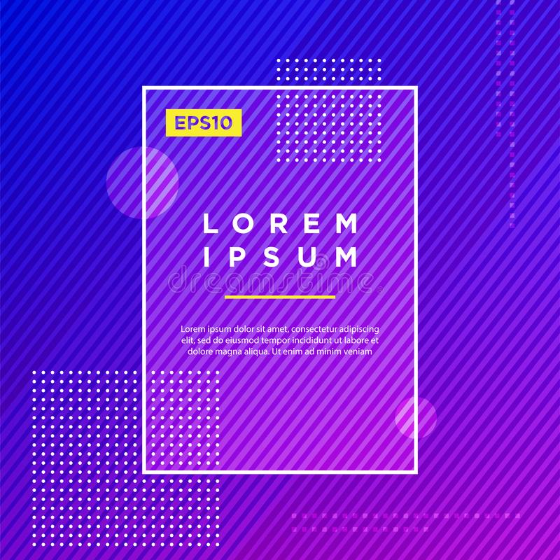 Abstract Minimal geometric vector multicolored background with dots and strip lines. Dynamic shapes composition. Eps10 vector stock illustration