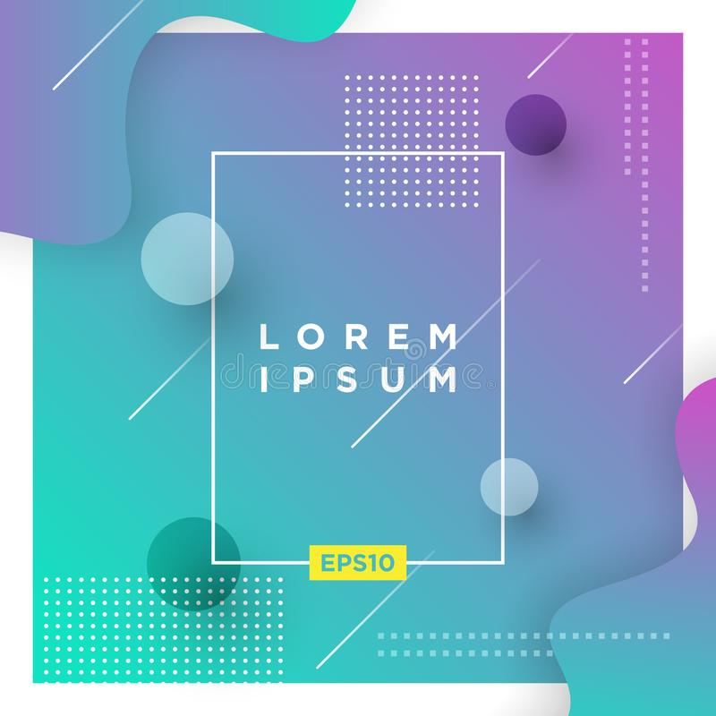 Abstract Minimal geometric vector multicolored background with shadow, dots and lines. Dynamic shapes composition. Eps10 vector. Illustration vector illustration