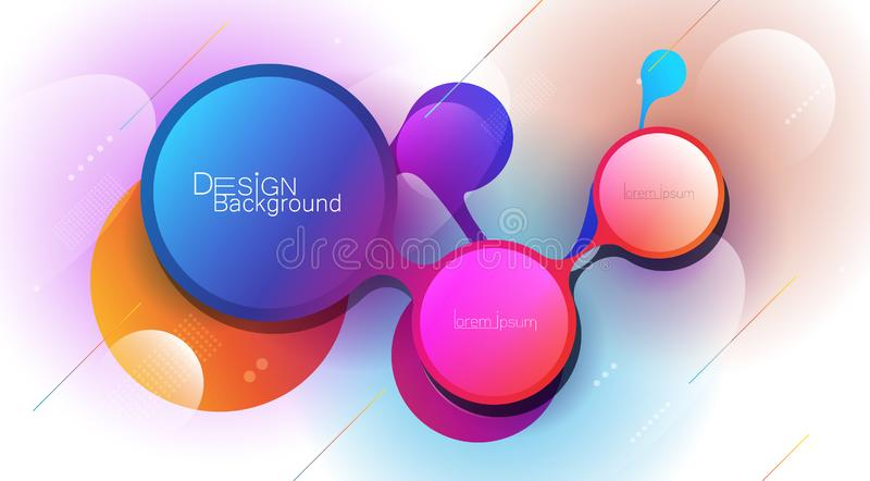 Abstract minimal gradient shapes and geometric pattern composition. Colorful gradient background. Vector abstract modern graphic design for template, poster royalty free illustration