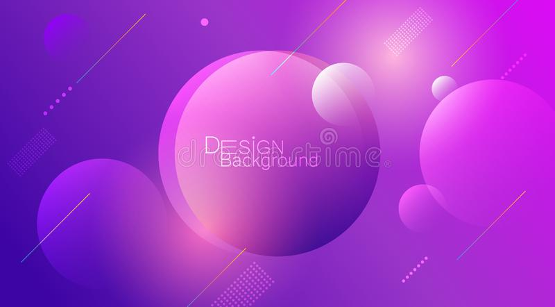 Abstract minimal gradient shapes and geometric pattern composition. Colorful gradient background. Vector abstract modern graphic design for template, poster vector illustration