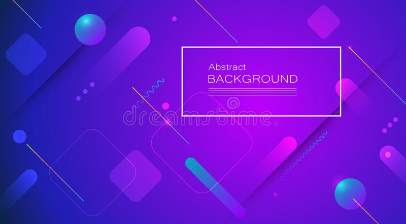 Abstract minimal gradient shapes and geometric pattern composition. Colorful gradient background. Vector abstract modern graphic design for template, poster stock illustration