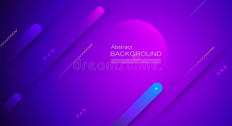 Abstract minimal gradient shapes and geometric pattern composition. Colorful gradient background. royalty free illustration