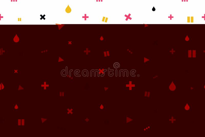 Abstract minimalistic background. Modern seamless background with minimalistic icons. Background for decoration and vector illustration