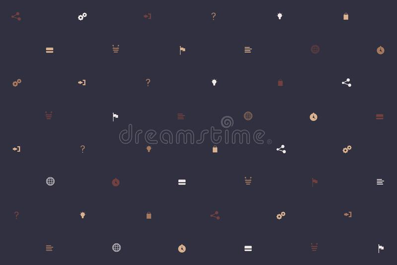 Abstract minimalistic background. Modern seamless background with minimalistic icons. Background for decoration and stock illustration