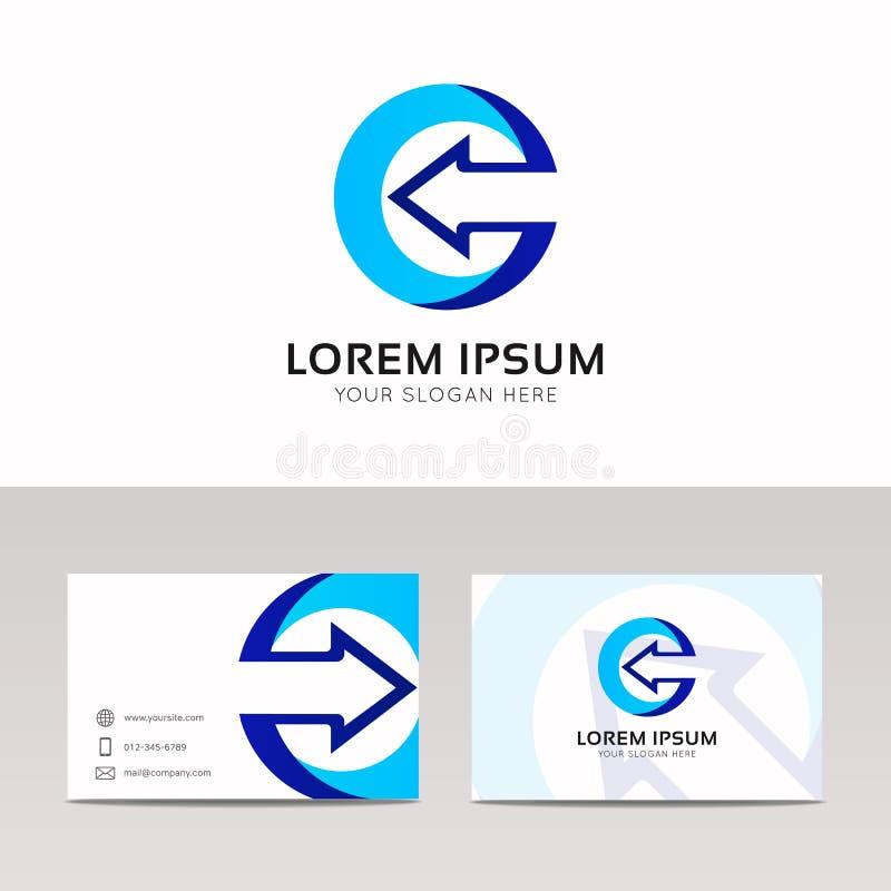 Vector Logo Icon Design . Letter P And Arrow Symbol. Stock