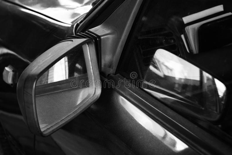 Abstract mirror reflection of the shadow. Abstract background. B & W stock image