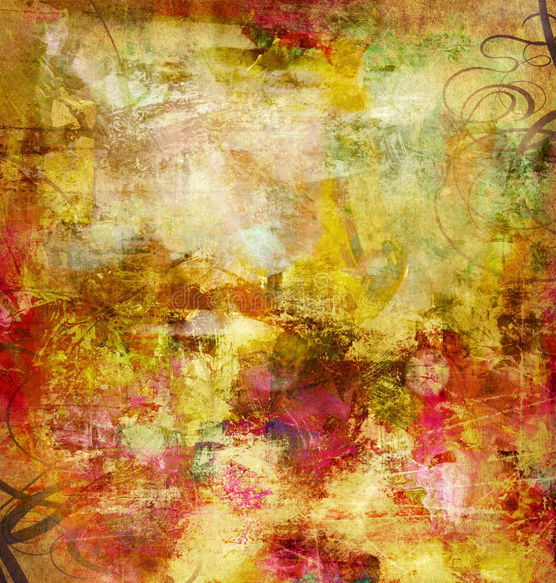 Download Abstract mixed media stock illustration. Image of color - 24284306