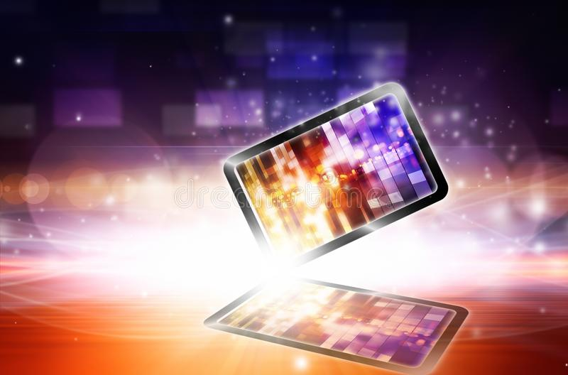 Abstract mobile device stock illustration
