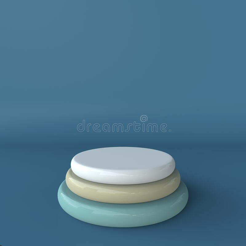 Abstract mock up scene pastel color. geometry shape podium background for product. 3d rendering royalty free stock photos