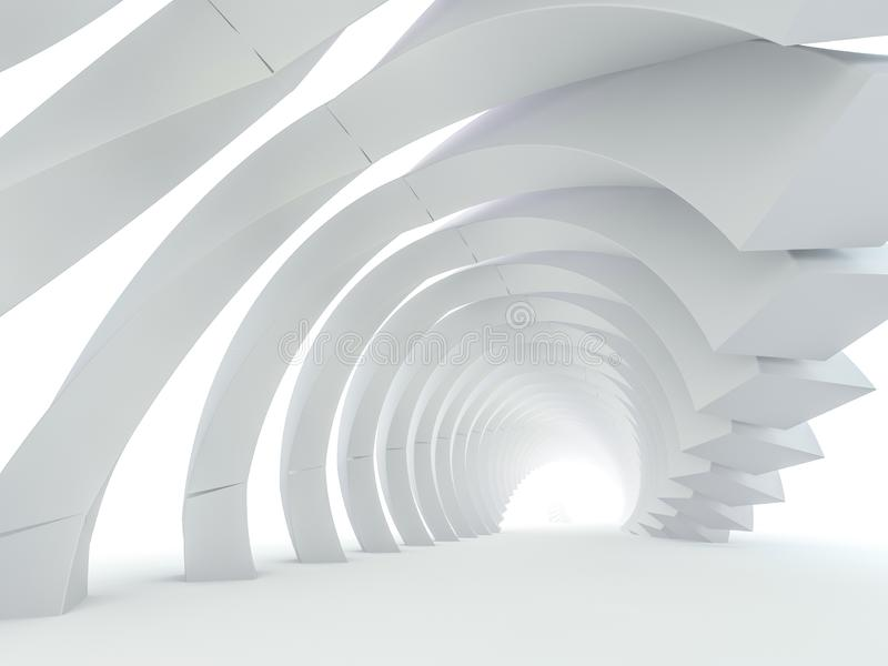Abstract modern architecture background. 3D vector illustration