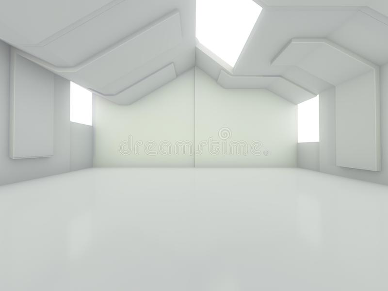 Abstract modern architecture background. 3D royalty free illustration