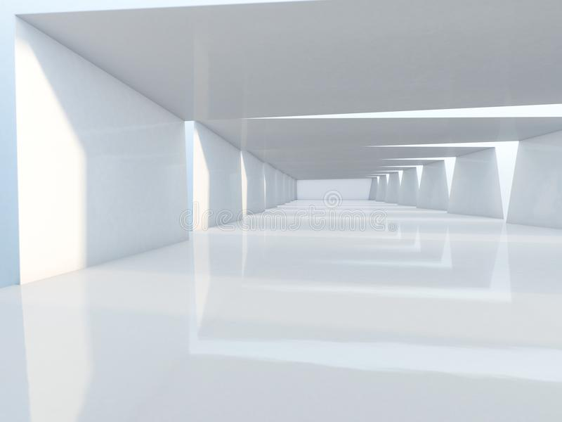 Abstract modern architecture background. 3D rendering. Abstract modern architecture background, empty open space interior. 3D rendering royalty free stock images