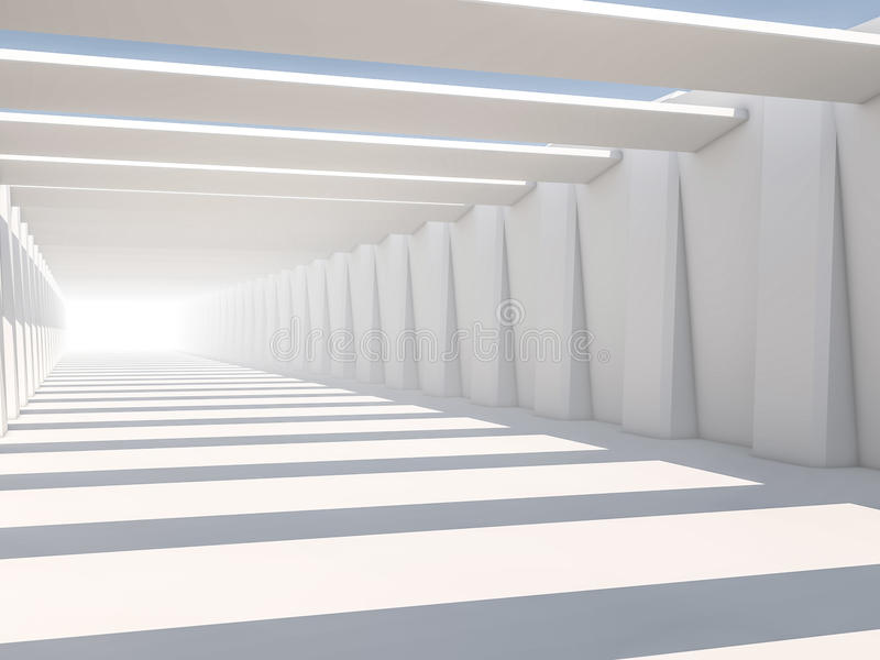 Abstract modern architecture background, empty white open space royalty free stock photos