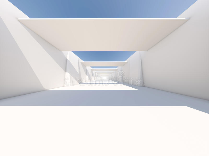 Abstract modern architecture background, empty white open space stock photo