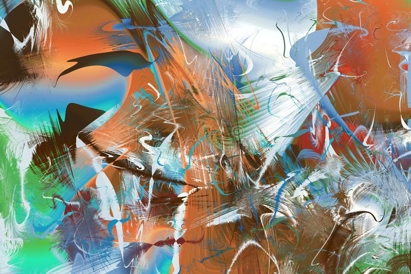 Abstract Modern Art background. Paint in Motion on the subject of creativity, imagination and energy of life vector illustration