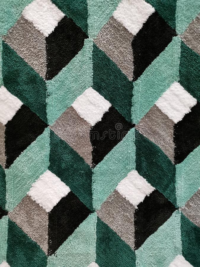 Abstract modern art rug royalty free stock photos