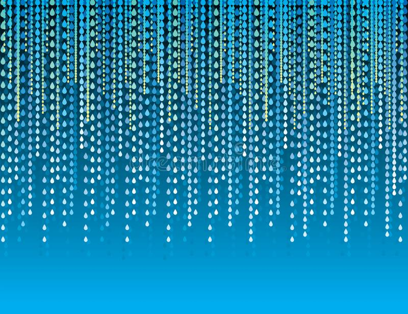 Abstract modern background with blue lines of drops. Blue backgrounds composed of lines of drops. Can be used for scrap booking, stock illustration
