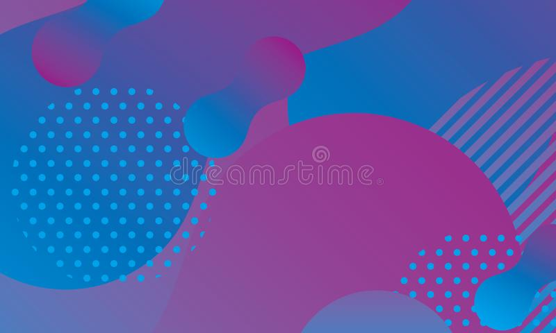 Abstract modern background with blue and purple gradation color vector illustration