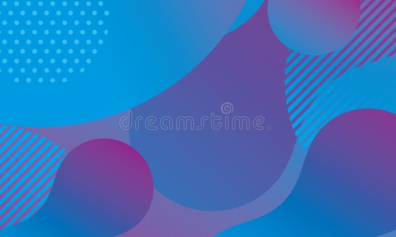 Abstract modern background with blue and purple gradation color stock illustration