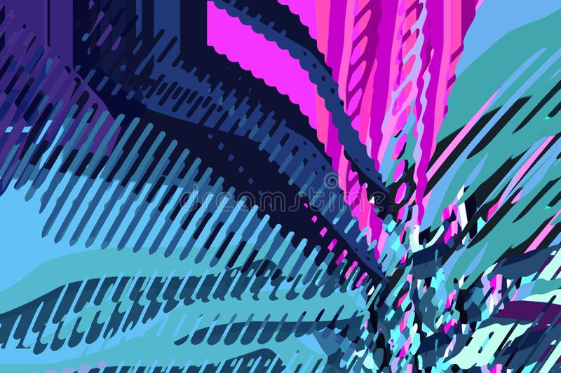 Abstract modern background. Creative colorful forms and shapes. Geometric pattern. Green, blue and purple bright graphic texture vector illustration