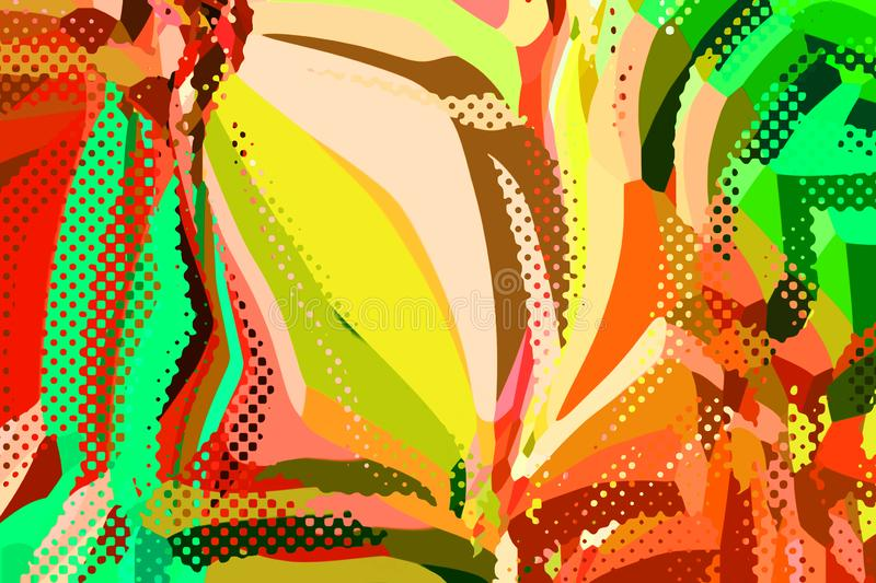 Abstract modern background. Creative colorful forms and shapes. Geometric pattern. Green, orange and yellow bright graphic texture stock photos