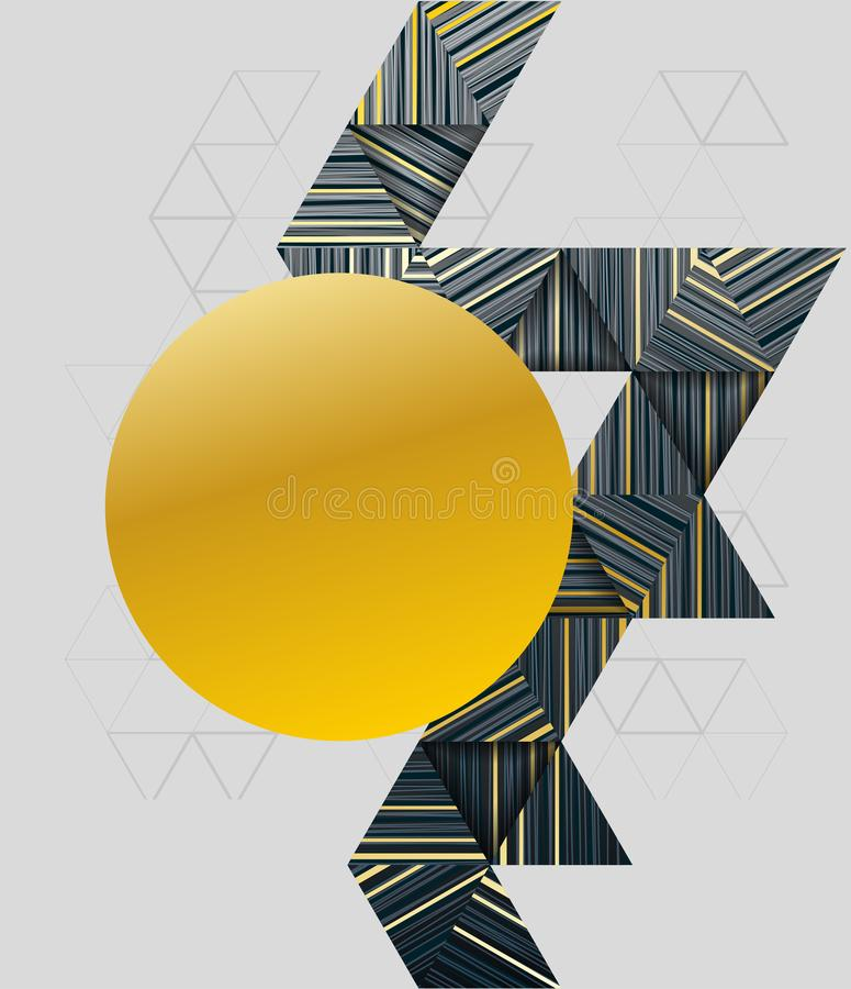 Abstract modern background with geometric composition stock illustration