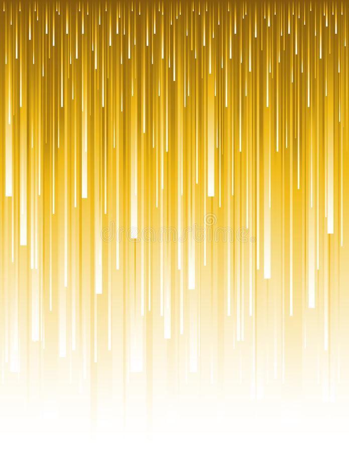 Abstract modern background with golden vertical lines. Backgrounds composed of glowing gold lines. Can be used for scrap booking,. Wallpaper, web, invitation stock illustration