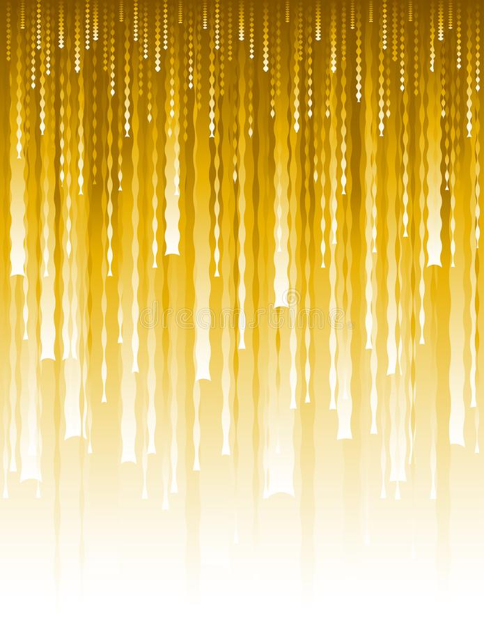 Abstract modern background with golden vertical waves lines.Gold Cover Design template for the presentation, brochure, web, banner. Catalog, poster, book vector illustration