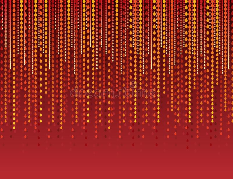 Abstract modern background with red lines of drops. Red backgrounds composed of lines of drops. Can be used for scrap booking, royalty free illustration