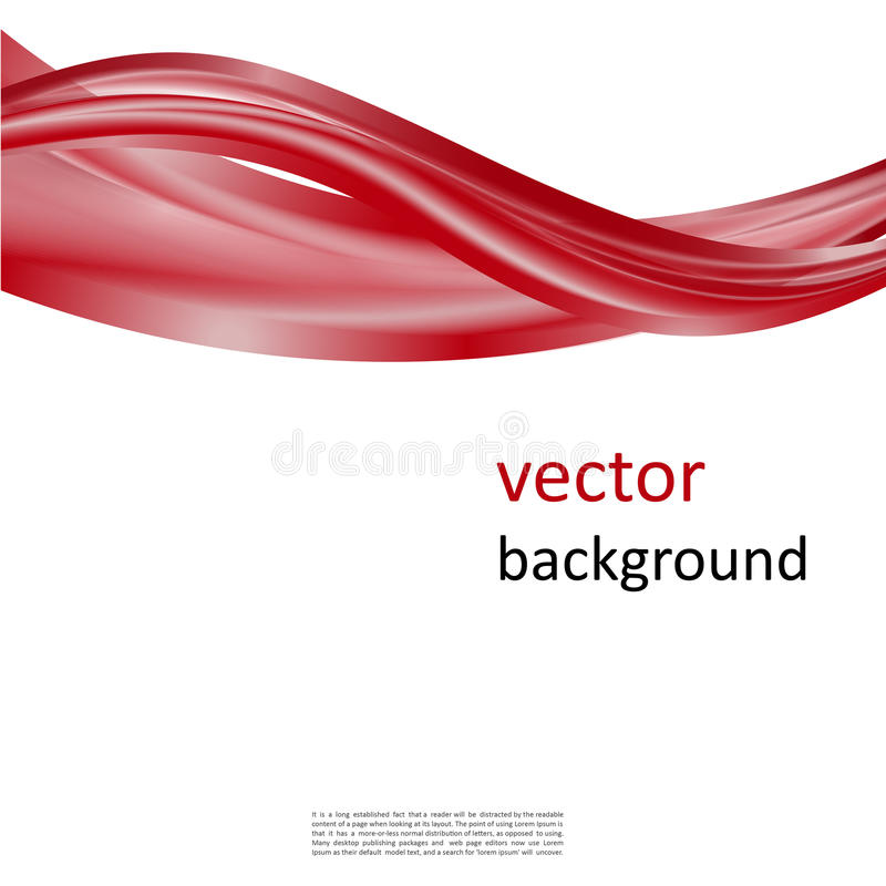 Abstract modern background. Abstract background with smooth shiny red waves royalty free illustration