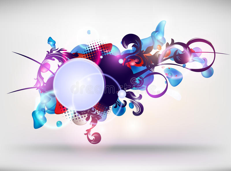 Abstract modern banner. royalty free illustration