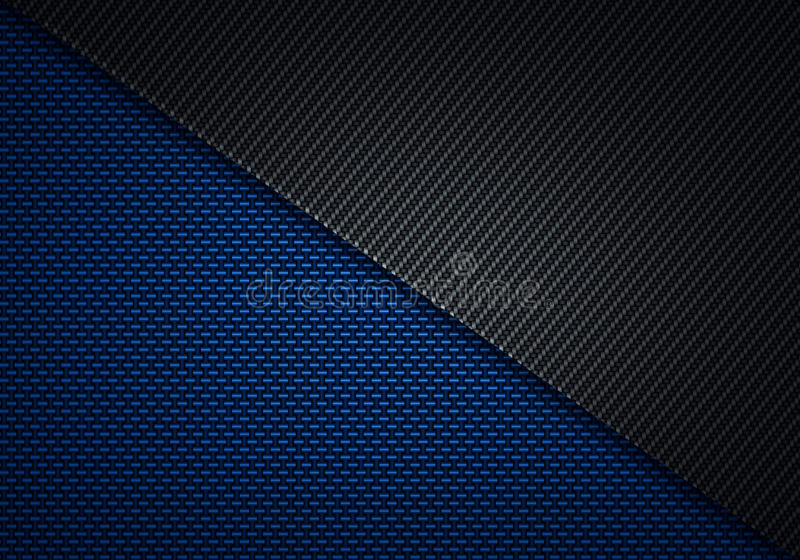 Abstract Modern Blue Black Carbon Fiber Textured Material Design For Background Wallpaper Graphic