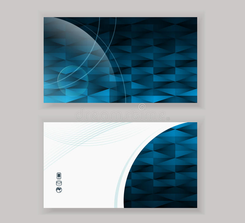 Abstract Modern Business-Card Design Template Stock Vector ...