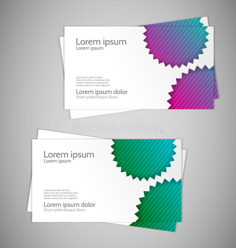 Download Abstract Modern Business Cards Stock Illustration - Image: 25200401