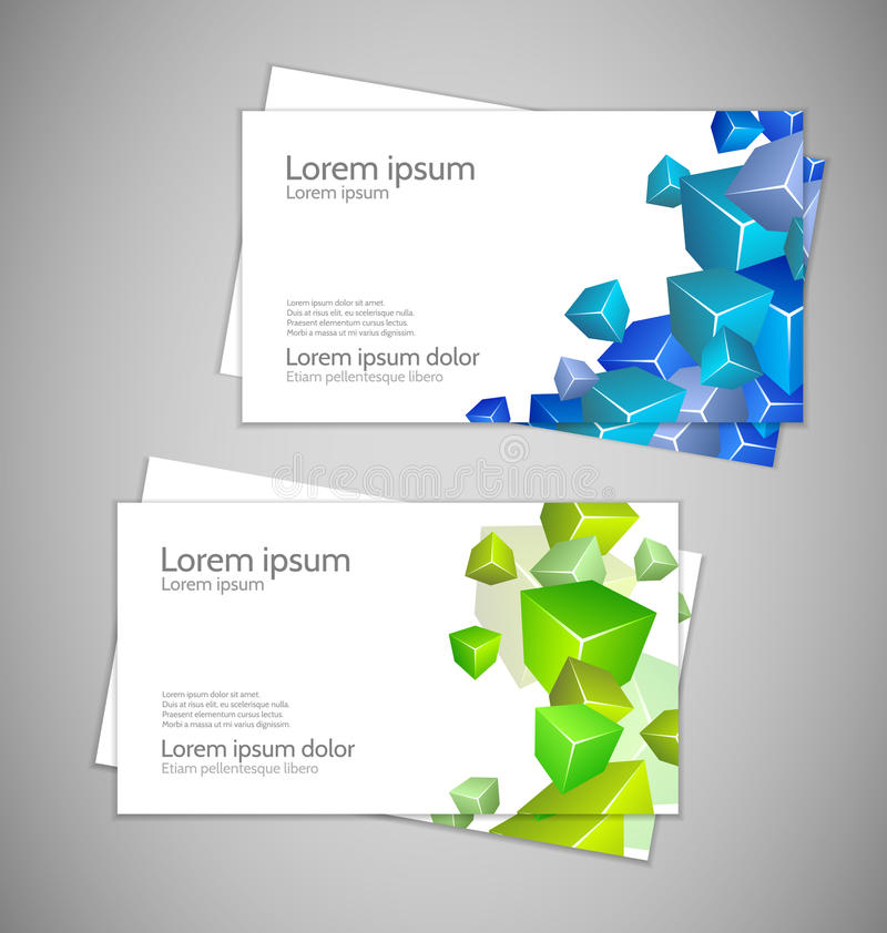 Abstract Modern Business cards vector illustration