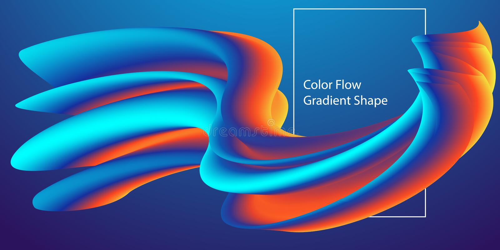 Abstract Modern Color flow shape template, Liquid colorful gradient background. Vector Illustration.  royalty free illustration