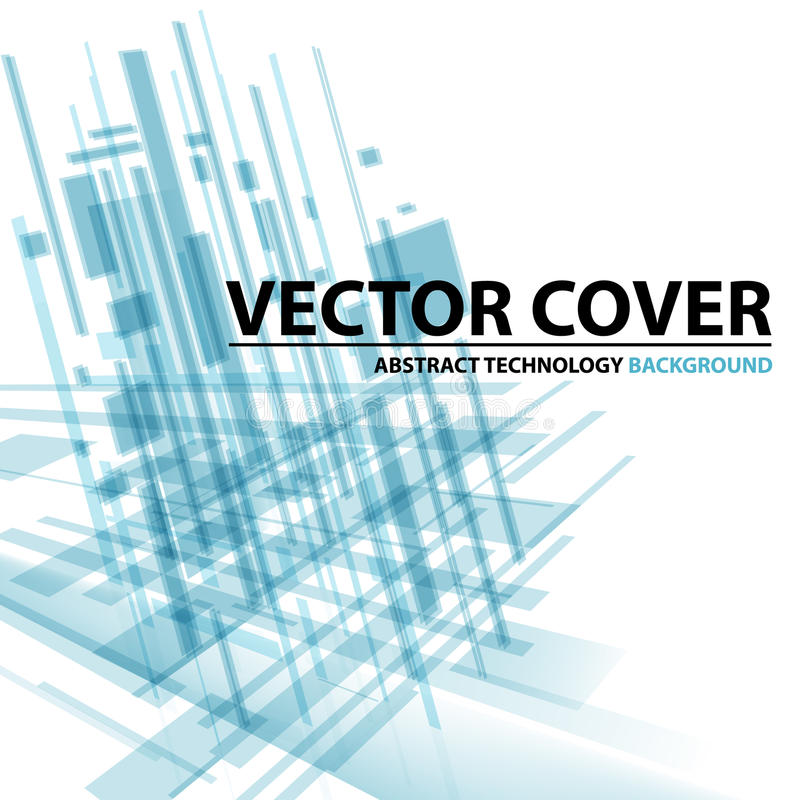 Abstract modern cover with text and heading. Technology or busi stock illustration