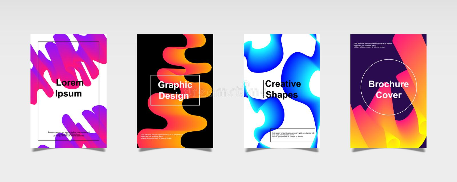 Abstract Modern covers set. Trendy geometric background. Eps10 vector vector illustration