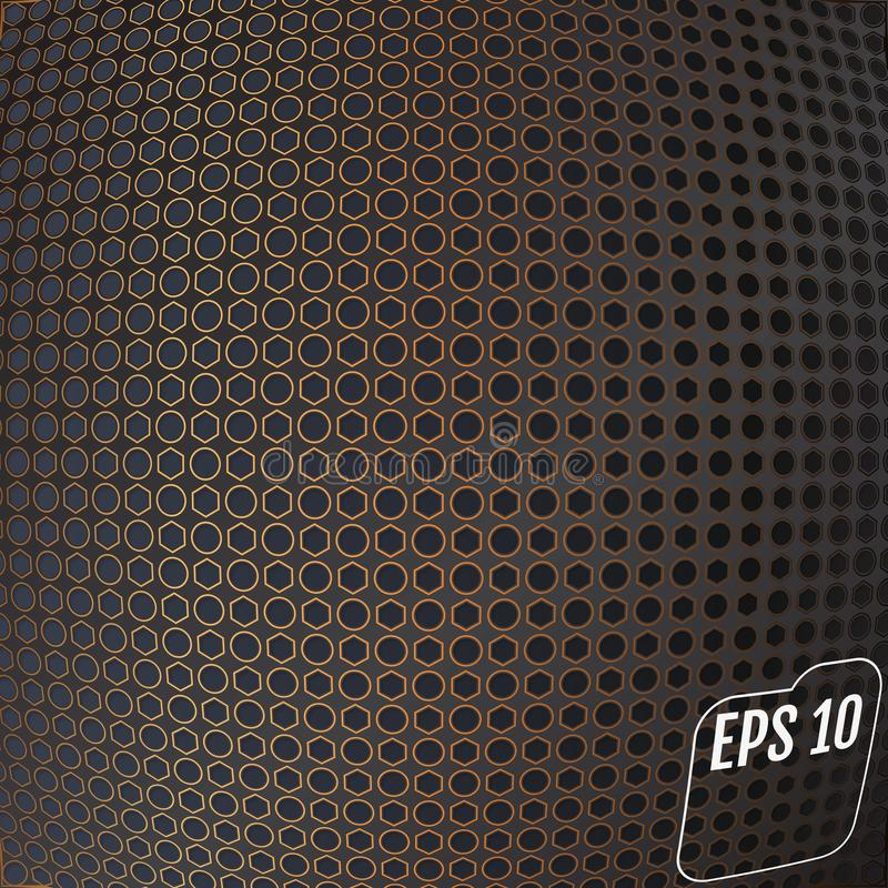 Abstract modern de vezel geweven materieel ontwerp van de koperkoolstof stock illustratie