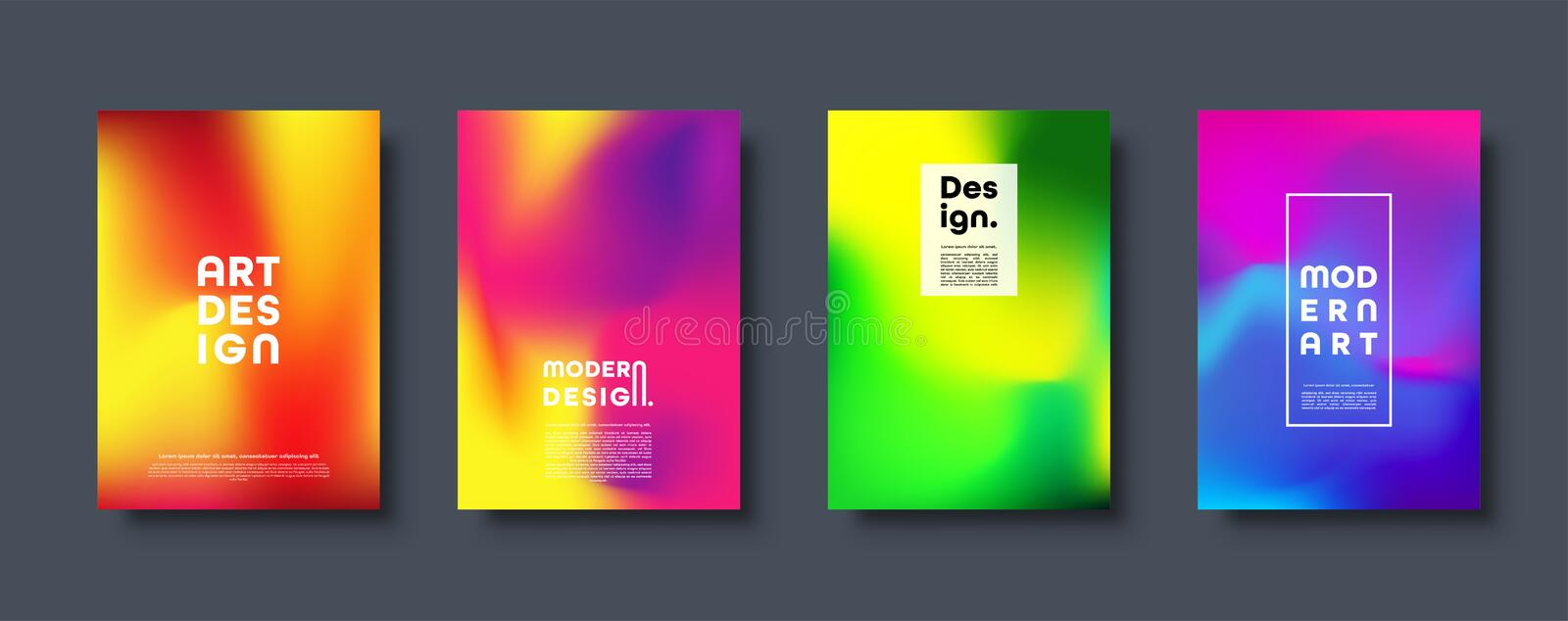 Abstract modern design background. Colorful neon gradient. Dynamic northern lights colors. Eps10 vector. vector illustration