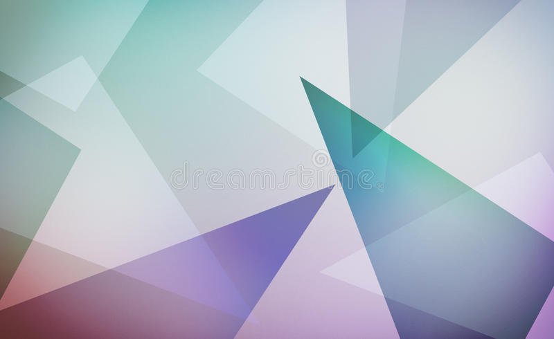 Abstract modern design with layers of blue green purple and white triangles on soft white background layout royalty free illustration