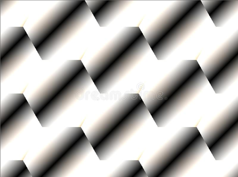 Abstract modern diagonal gradient grey brushed bright background. Abstract modern diagonal gradient grey brushed, glossy metallic construction background stock illustration